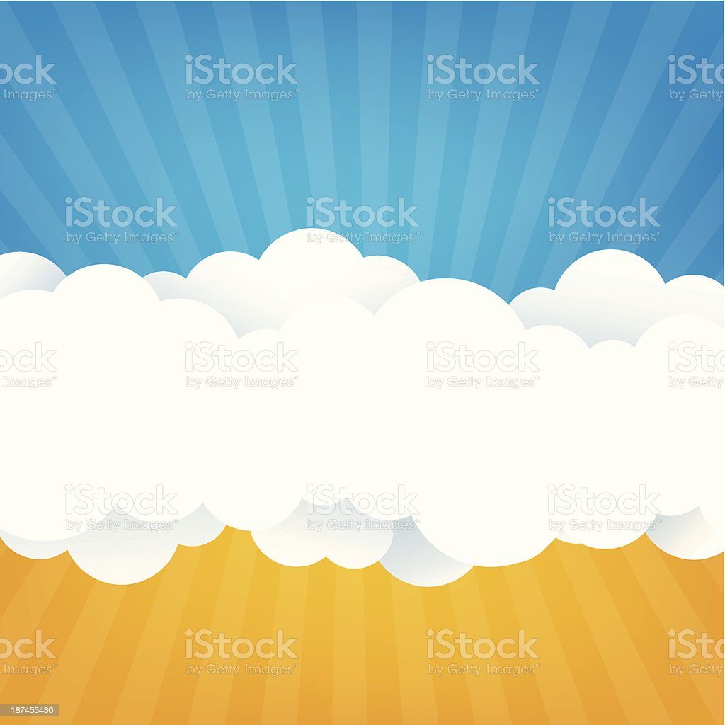 Sky With Clouds royalty-free stock vector art