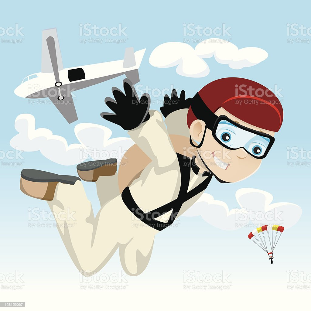 Skydiver royalty-free stock vector art