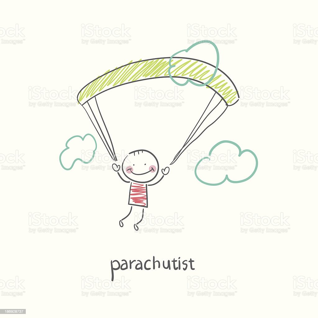 Skydiver. vector art illustration