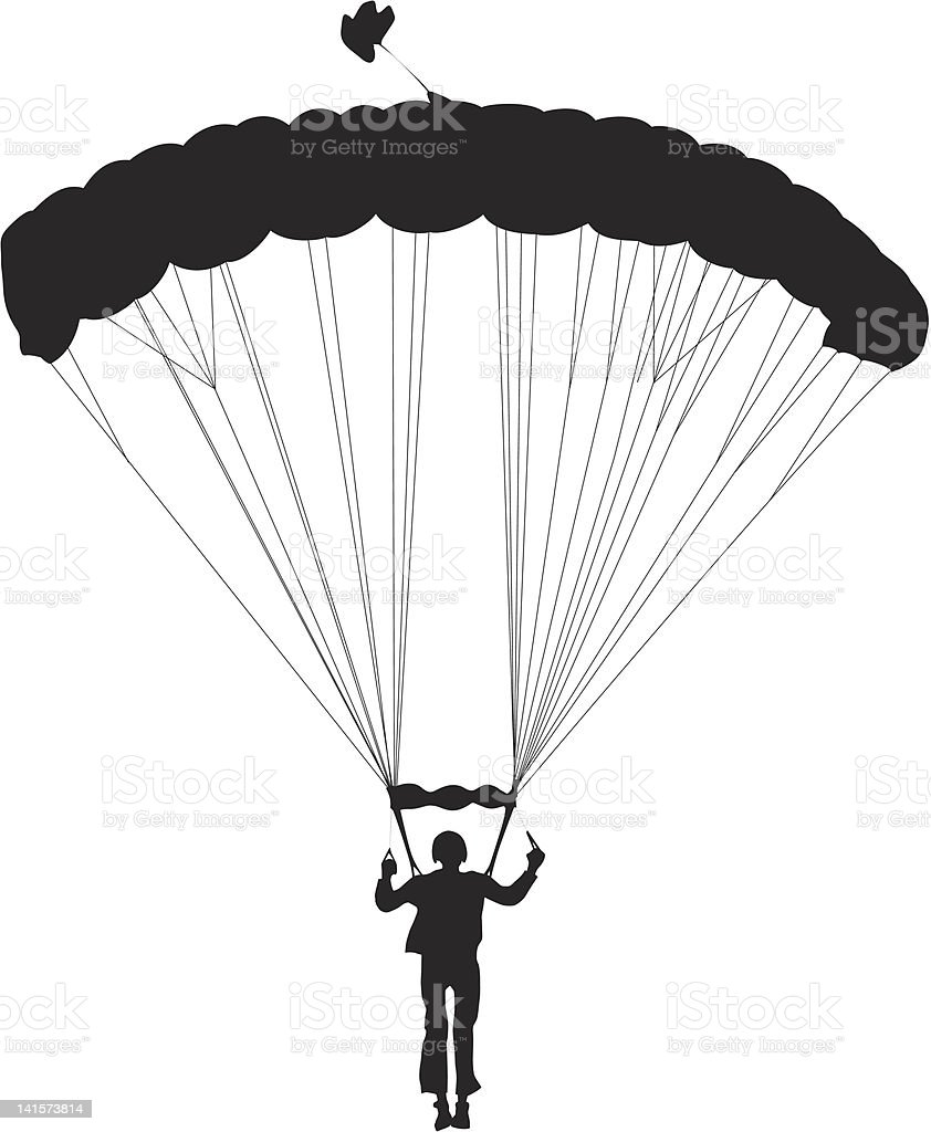 Skydiving royalty-free stock vector art