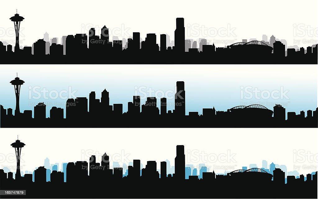 Skyline Blue Vector Silhouette royalty-free stock vector art