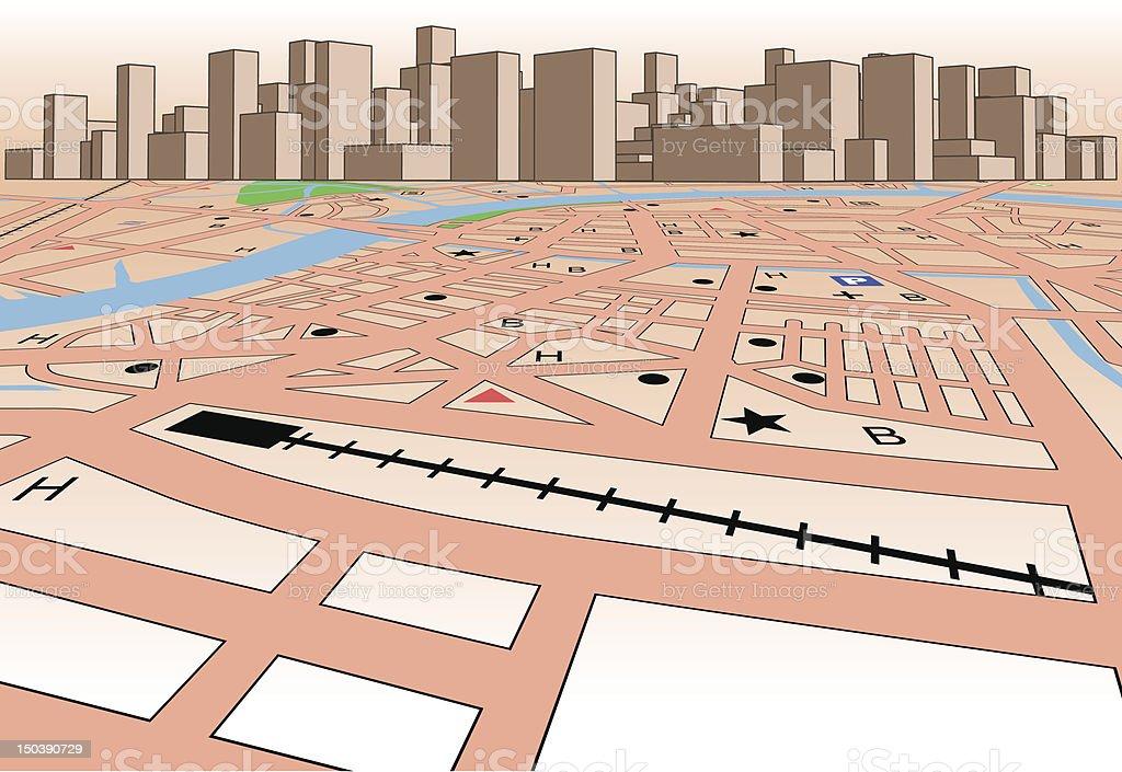 Skyline map royalty-free stock vector art