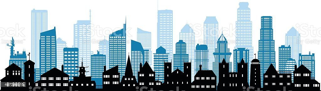 Skyline vector art illustration
