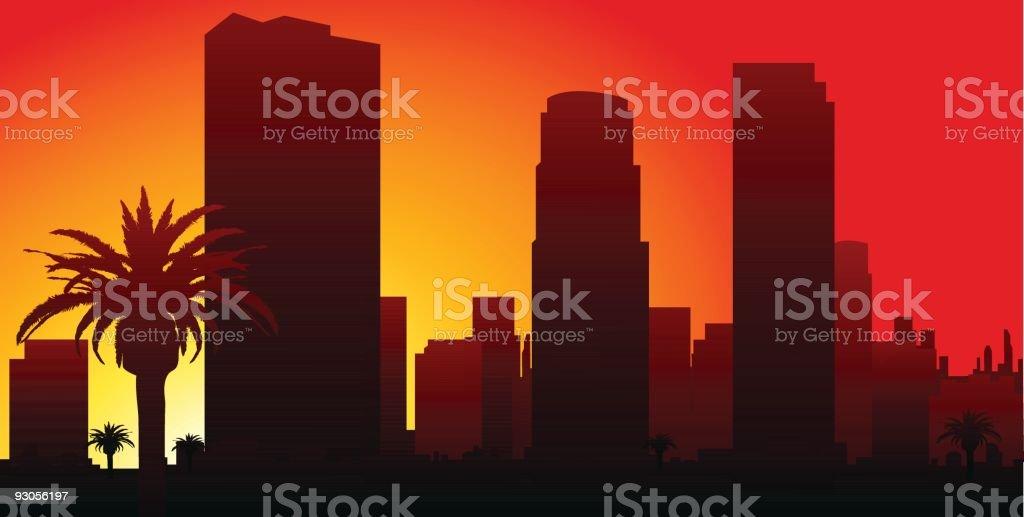 LA Skyline vector art illustration
