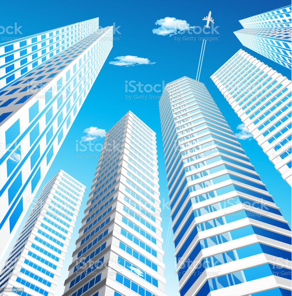 Skyscraper vector art illustration