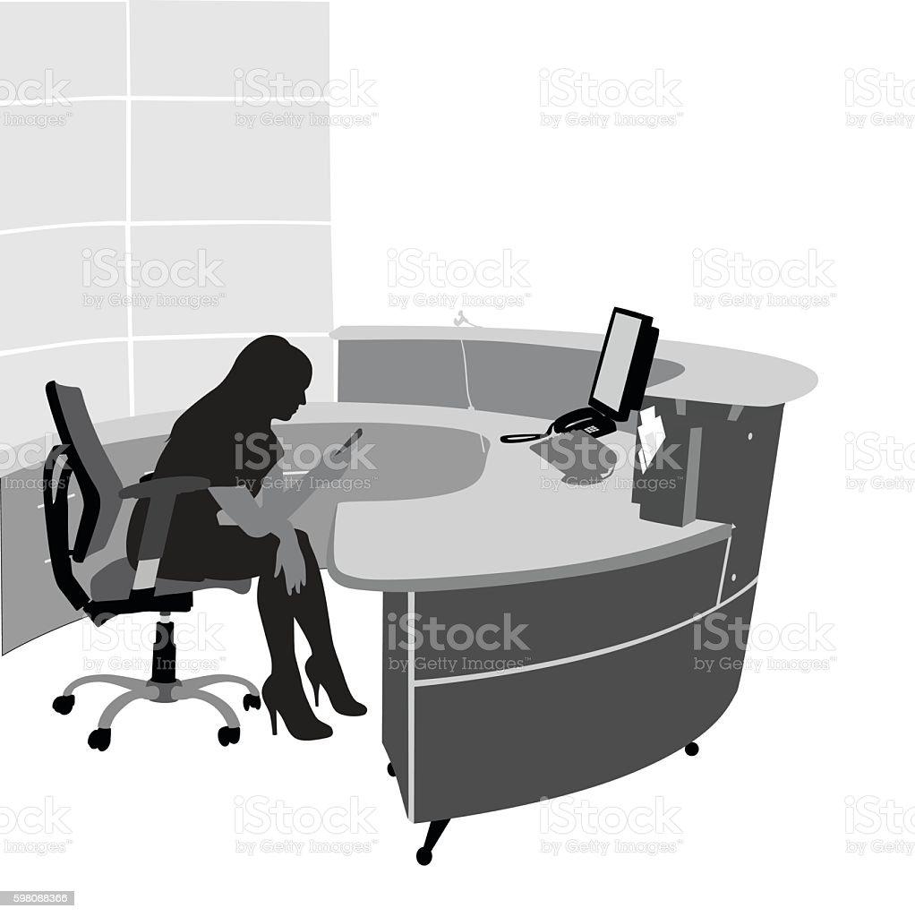 Slacking On The Job vector art illustration