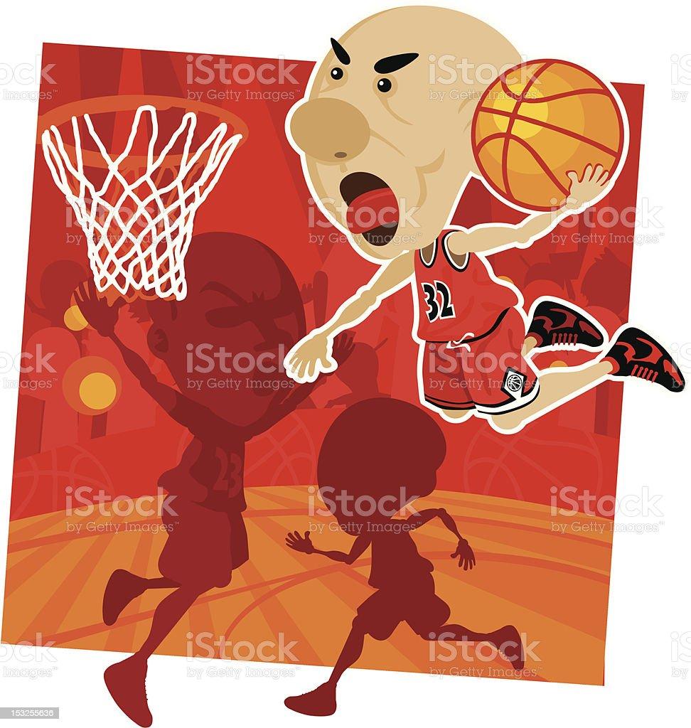 Slam Dunk vector art illustration