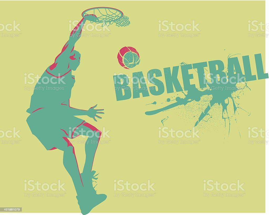 Slam the Ball vector art illustration