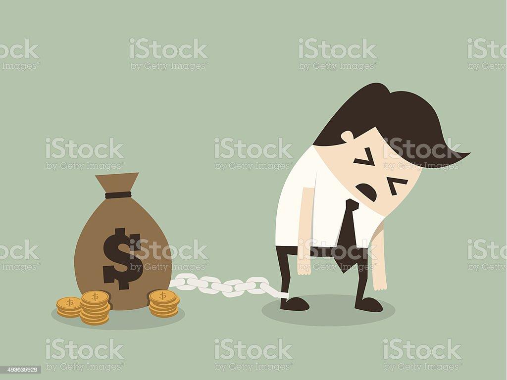 Slave vector art illustration
