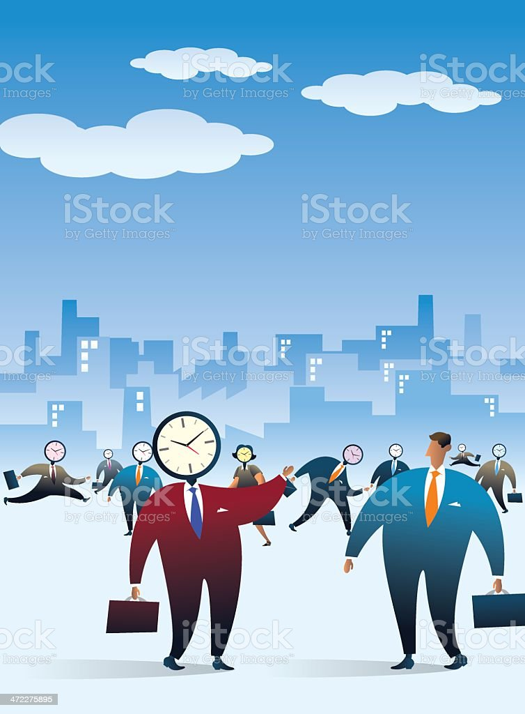 Slaves of the Time royalty-free stock vector art