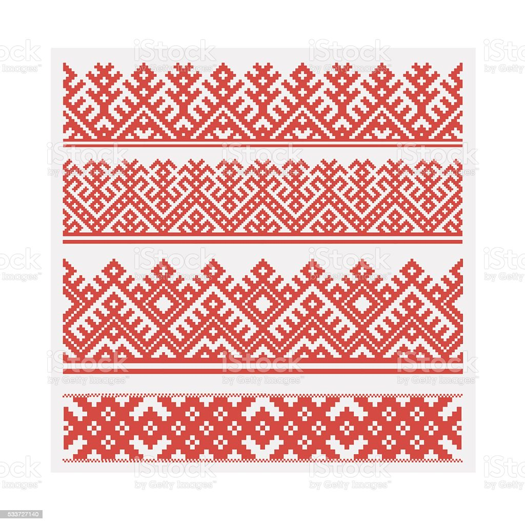 Slavic ethnic ornament. Vector illustration, seamless pattern. vector art illustration