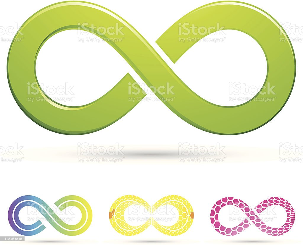 sleek style infinity symbols vector art illustration