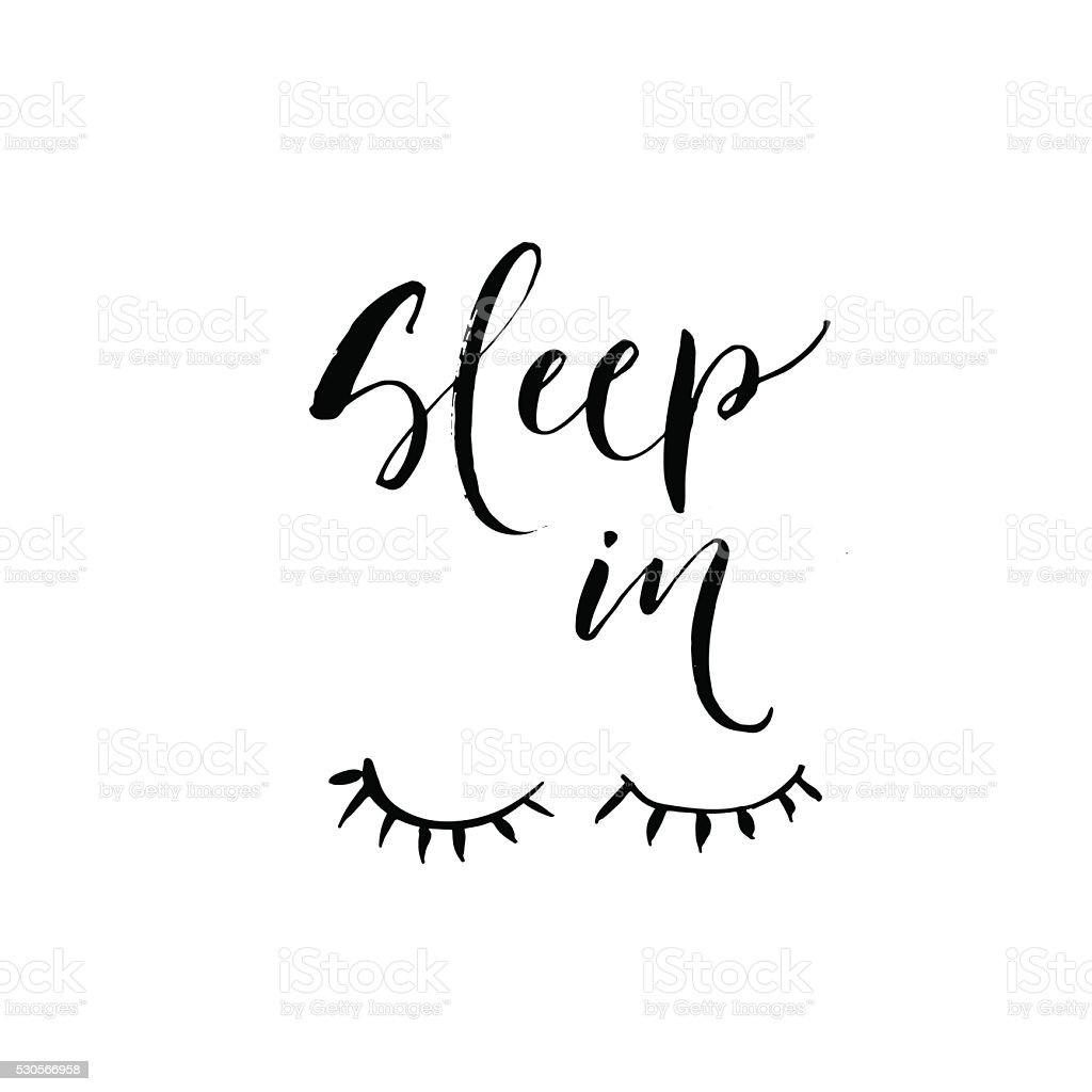 Sleep in phrase. vector art illustration