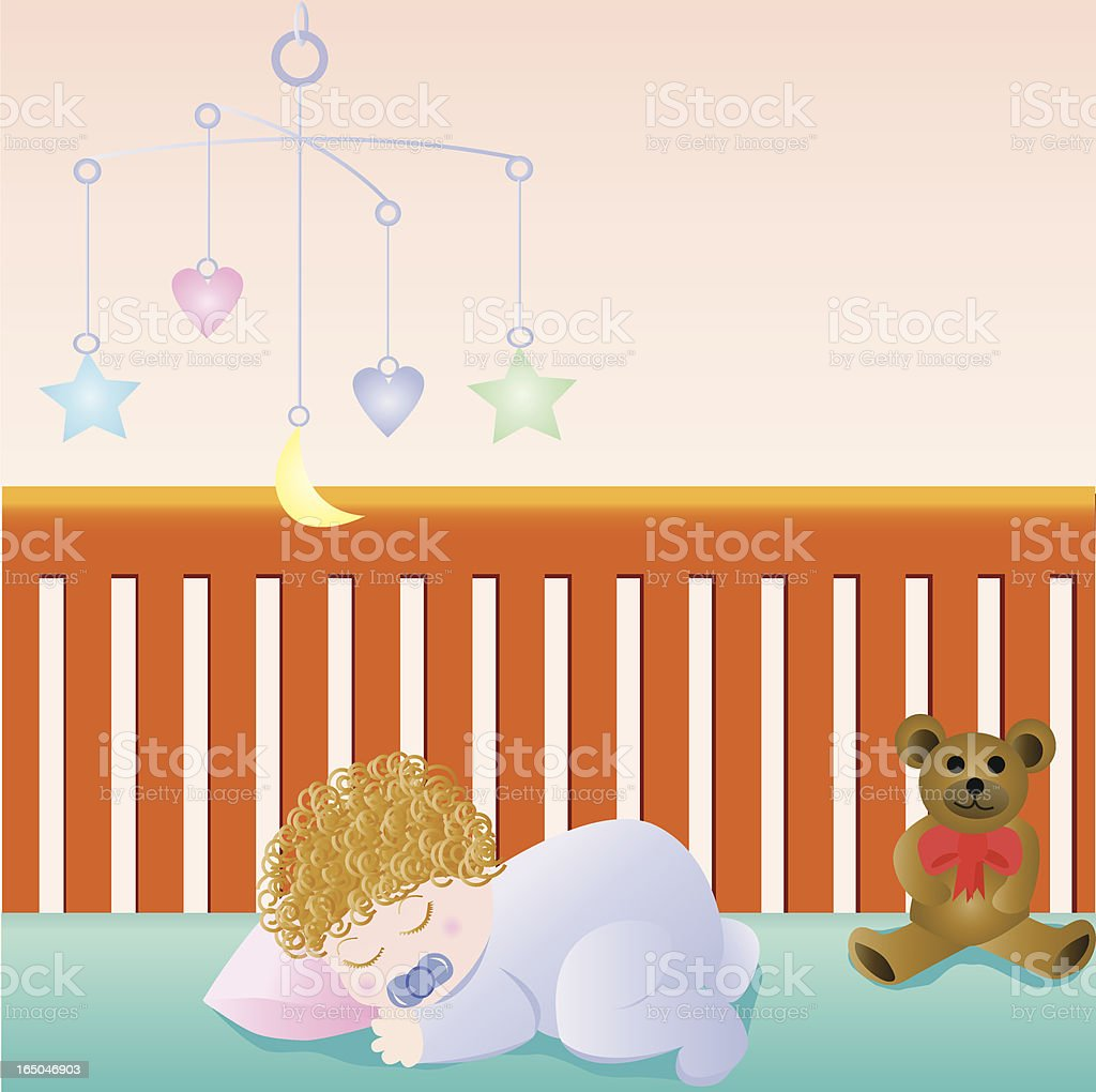 Sleeping Baby royalty-free stock vector art