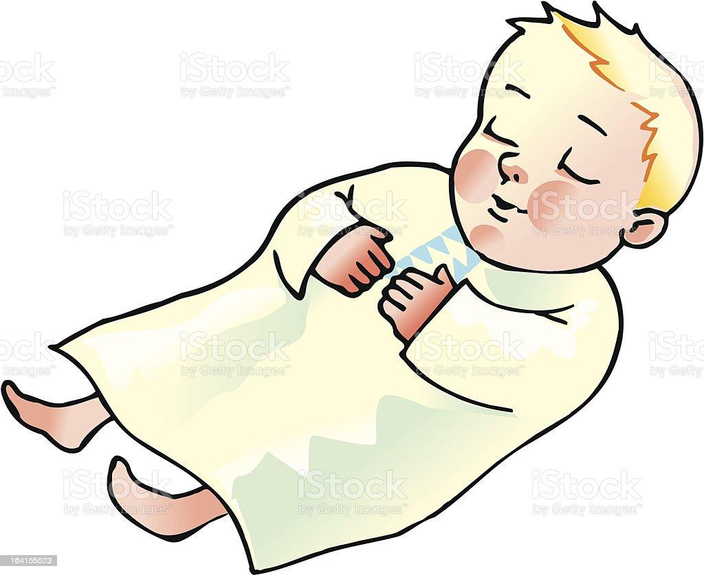 sleeping boy royalty-free stock vector art