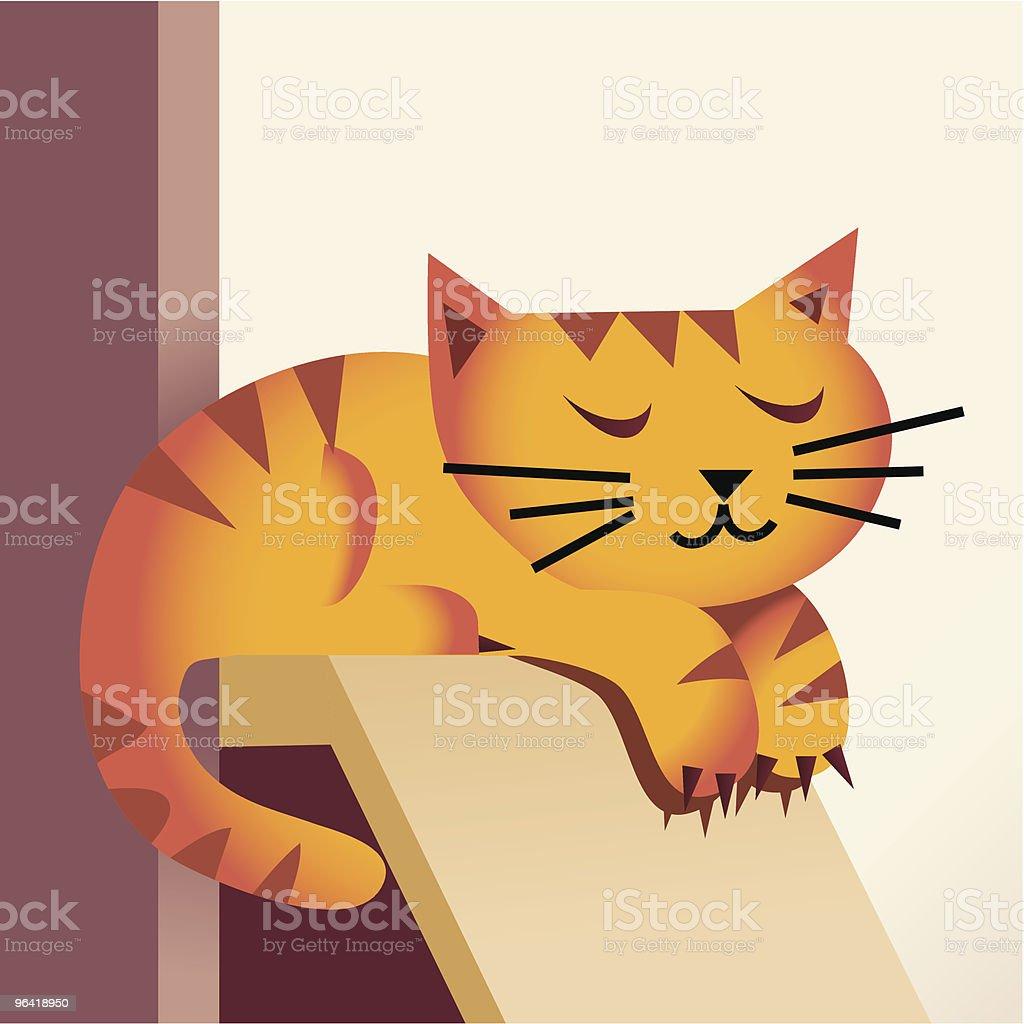 Sleeping Cat royalty-free stock vector art