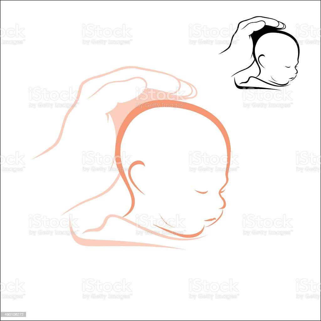 Sleeping child royalty-free stock vector art