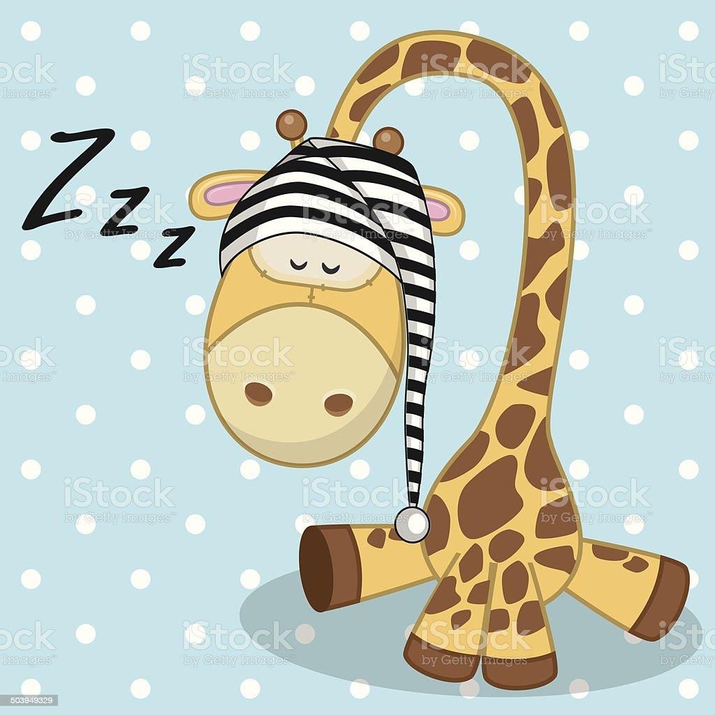 Sleeping Giraffe royalty-free stock vector art
