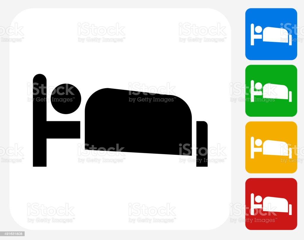 Sleeping Icon Flat Graphic Design vector art illustration