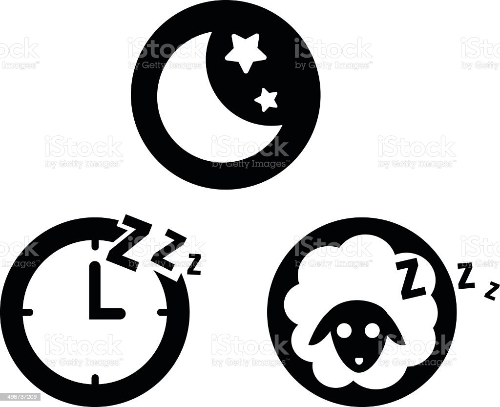 sleeping icon vector art illustration