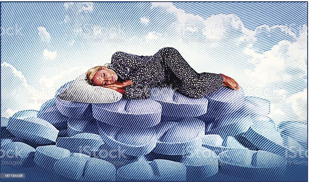 Sleeping In vector art illustration