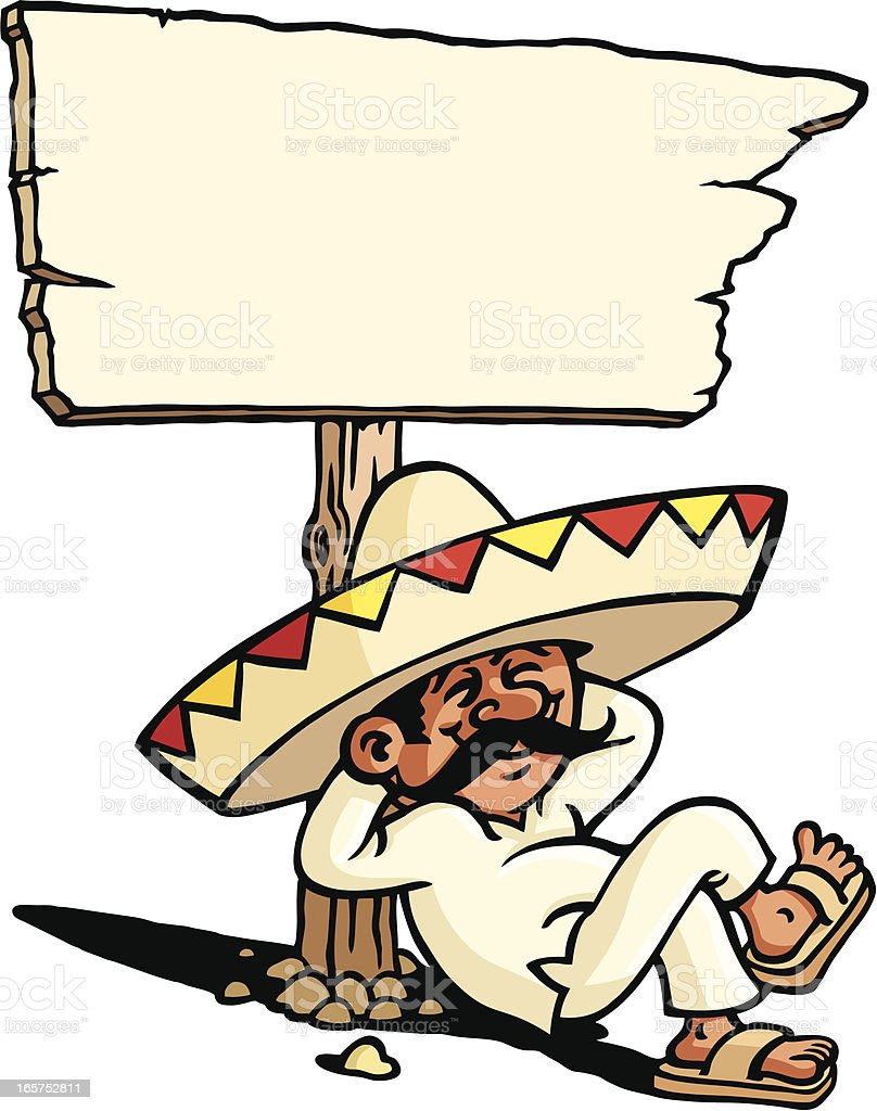 Sleeping Mexican royalty-free stock vector art