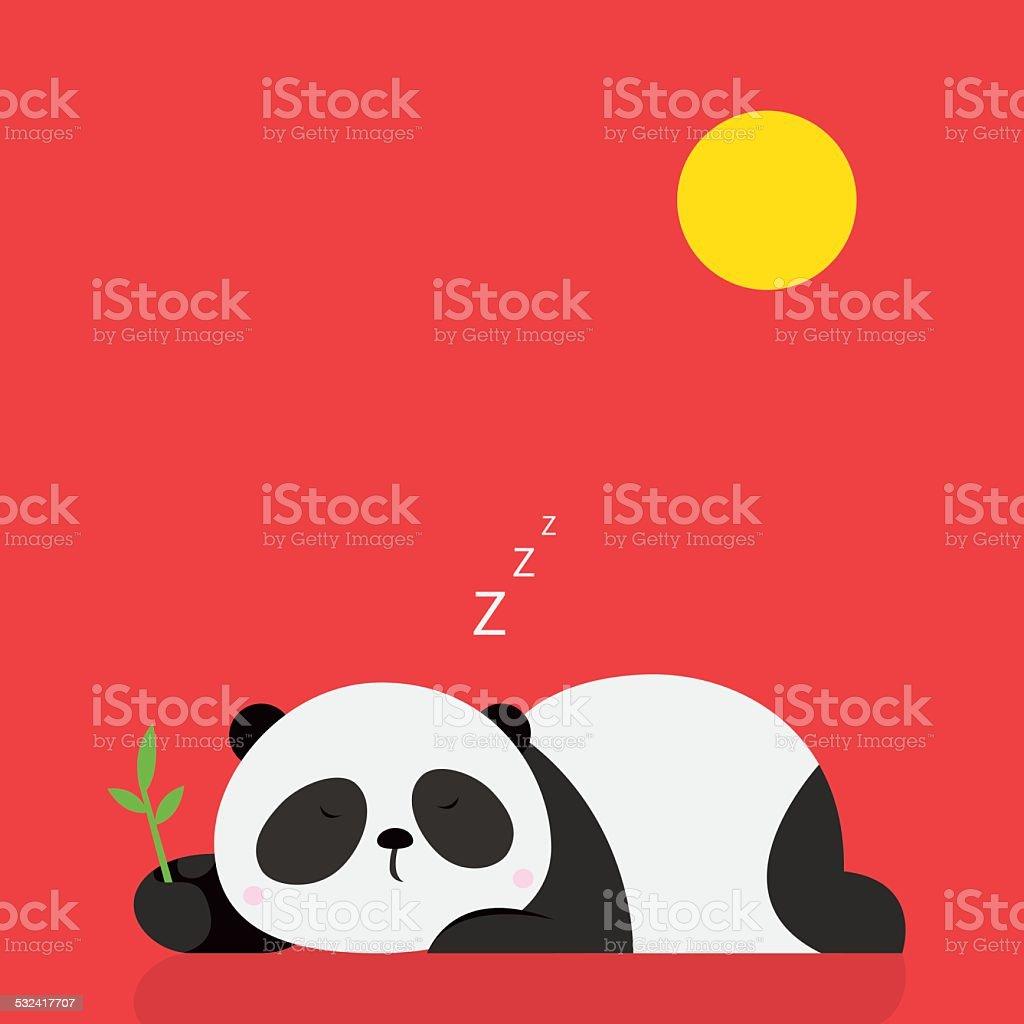 Sleeping Panda vector art illustration