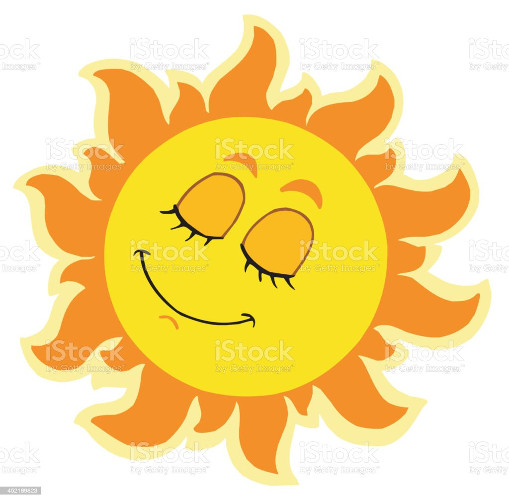 Sleeping Sun royalty-free stock vector art
