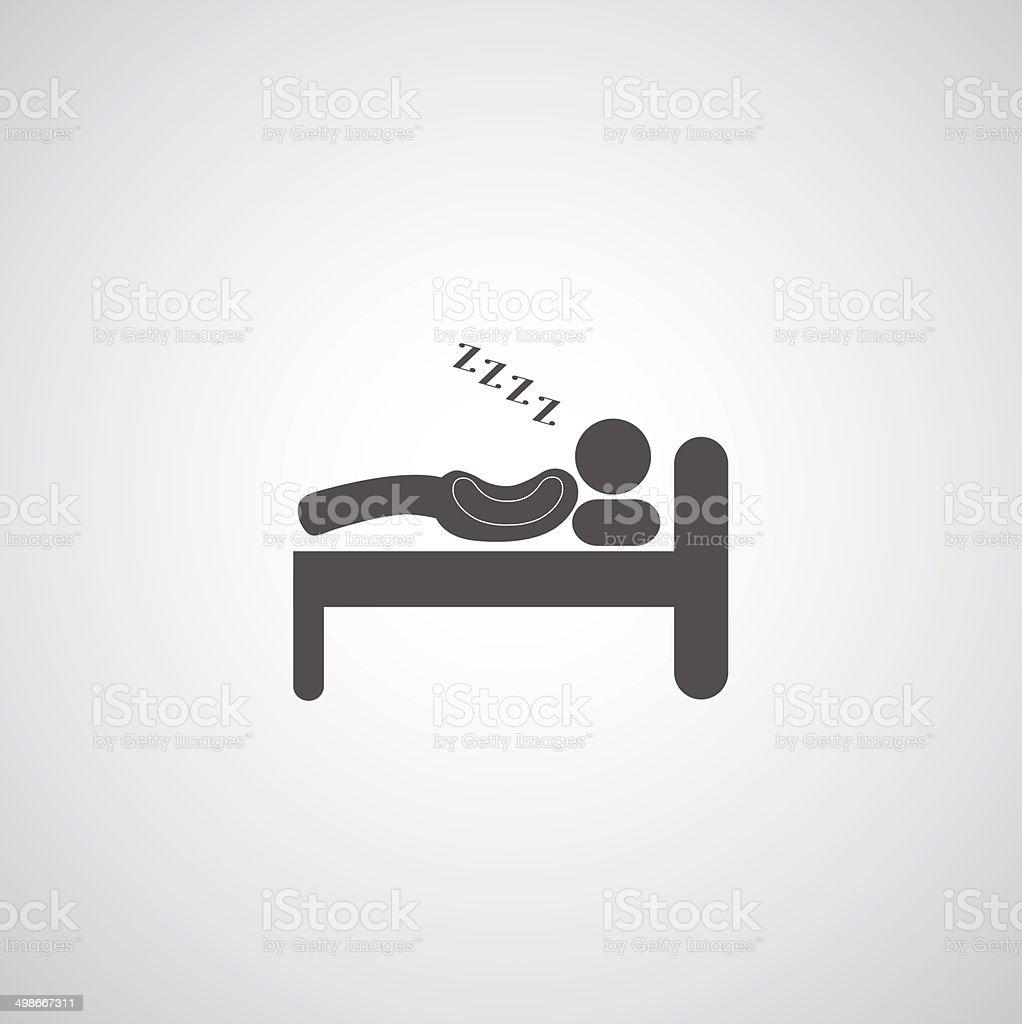 Sleeping symbol vector art illustration