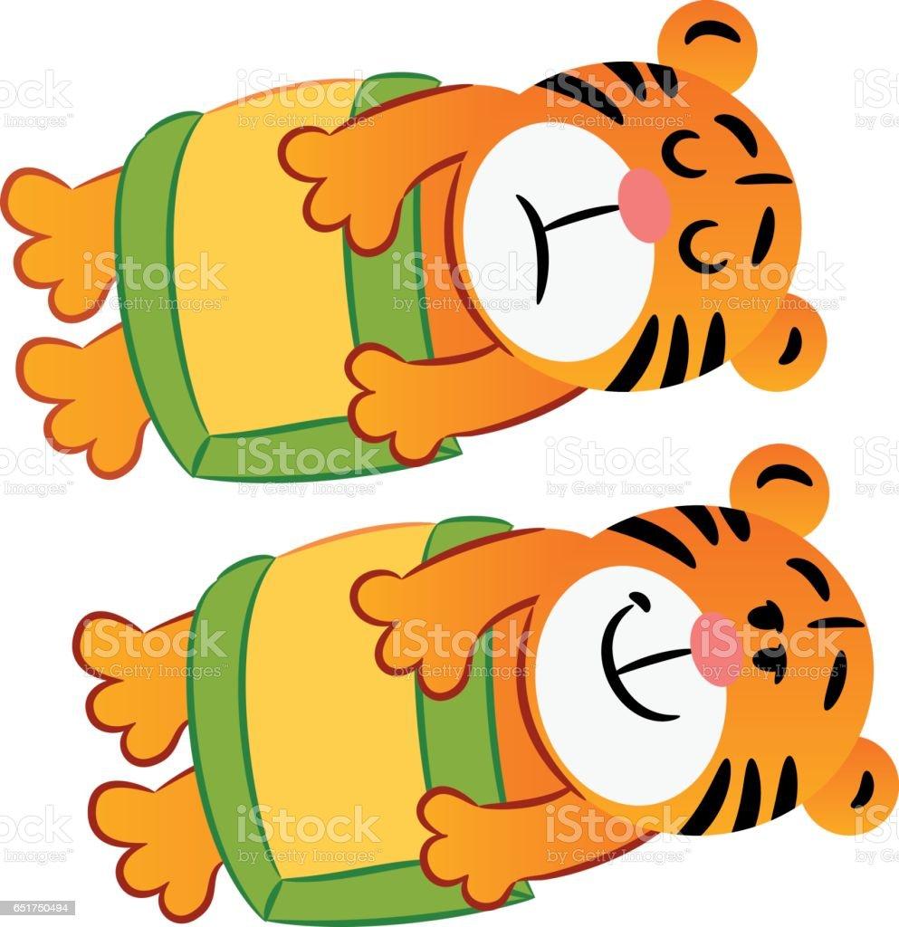 Sleeping tiger vector art illustration