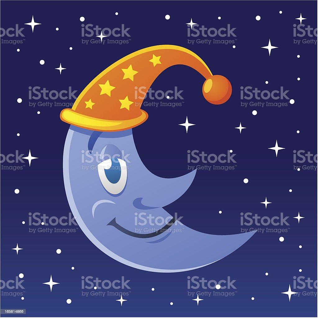 Sleepy Moon royalty-free stock vector art