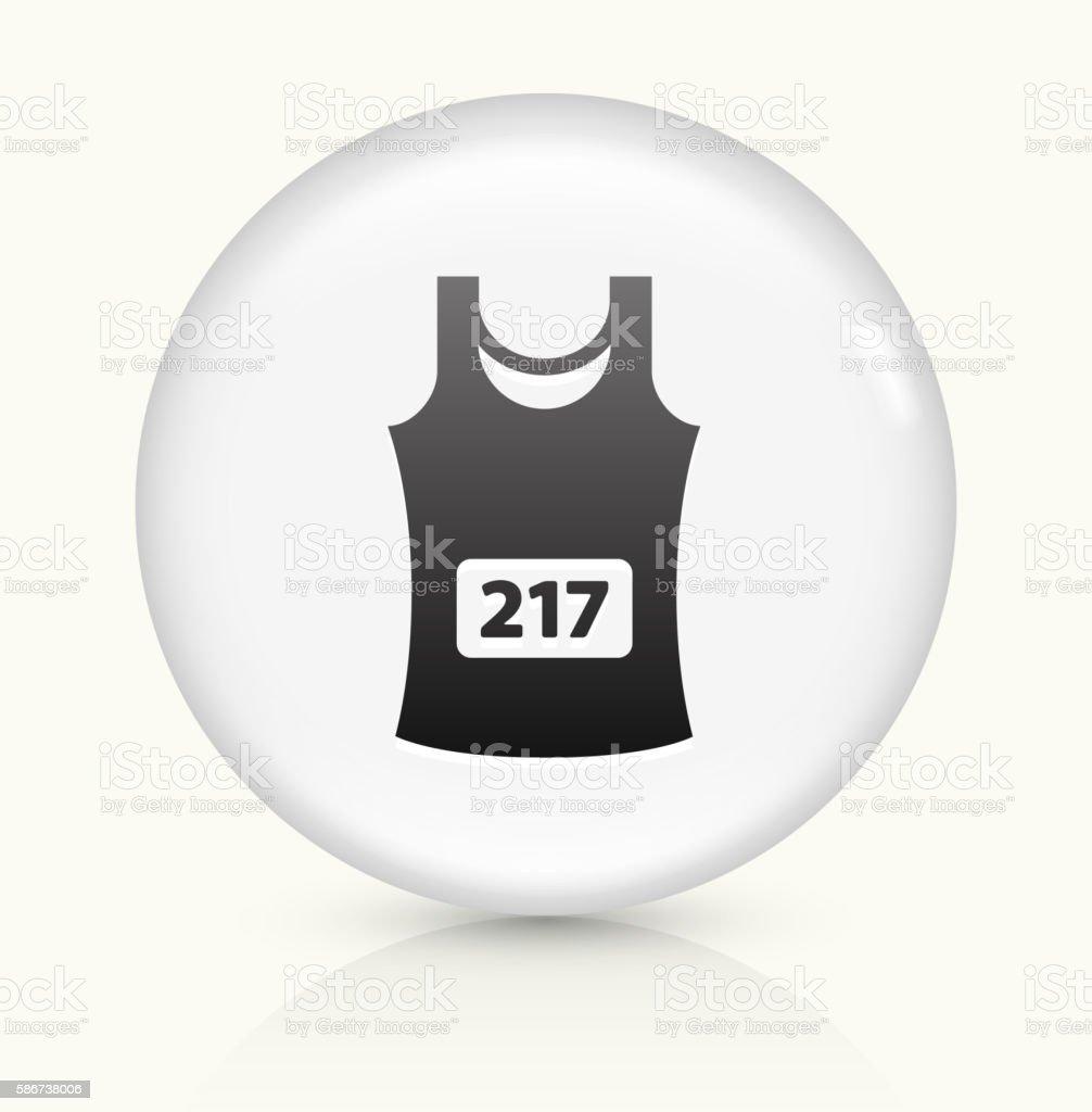 Sleeveless Jersey icon on white round vector button vector art illustration
