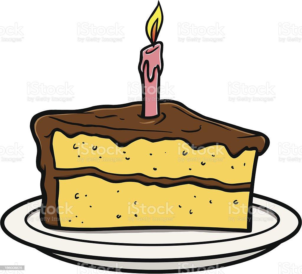 Slice Of Cake royalty-free stock vector art