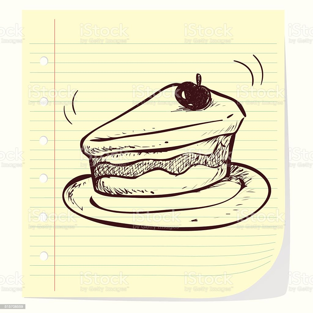 Slice of Cake vector art illustration