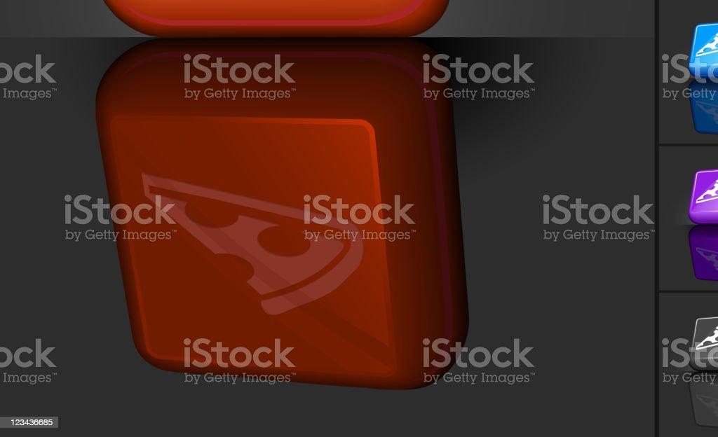slice of pizza icon Web 2.0 Internet button design vector art illustration