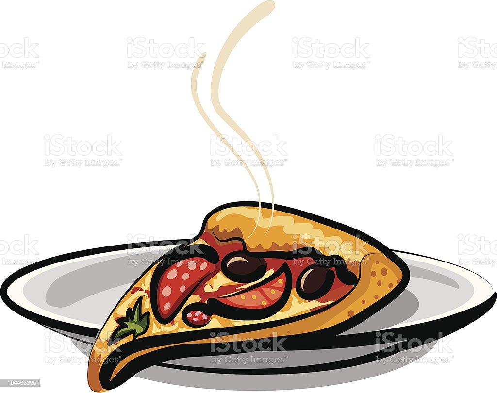 slice of pizza royalty-free stock vector art