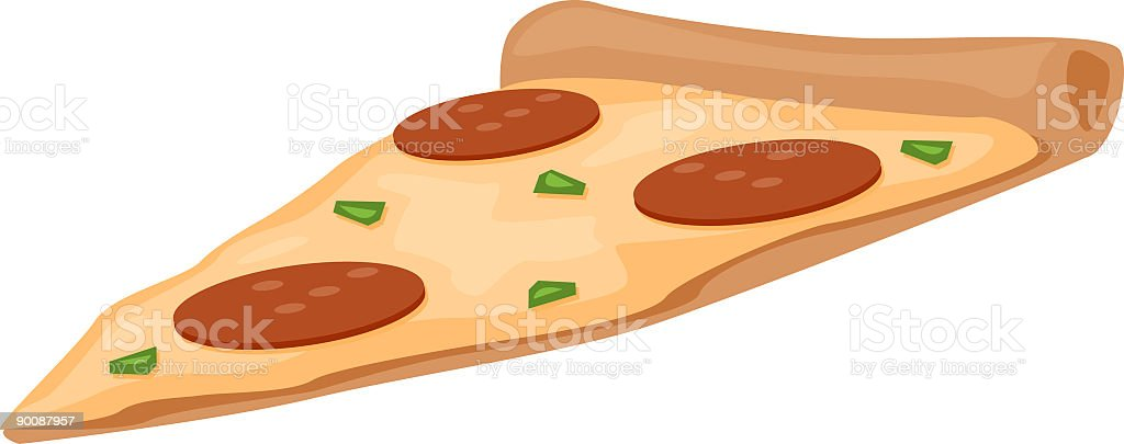 Slice of Pizza royalty-free stock vector art