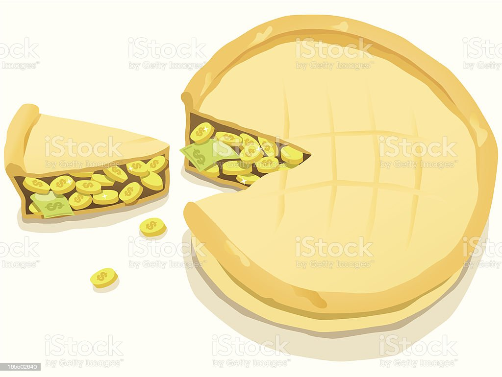Slice of the Profit Pie vector art illustration