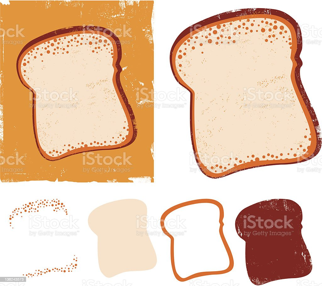 Slice of toast royalty-free stock vector art
