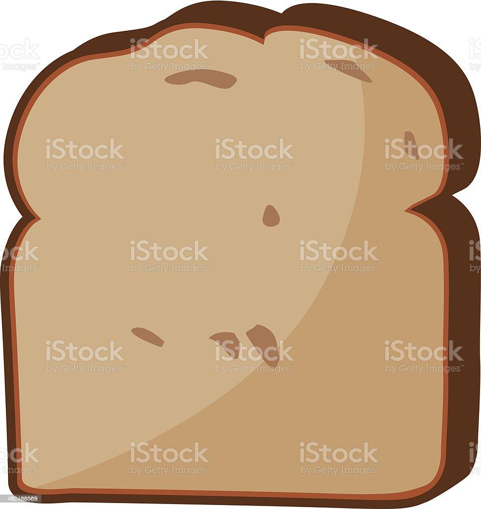 slice of wheat bread royalty-free stock vector art