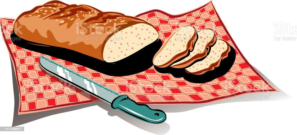 sliced bread royalty-free stock vector art