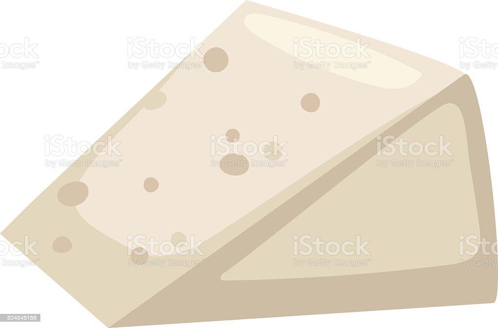 Sliced feta white cheese healthy milk product vector illustration vector art illustration