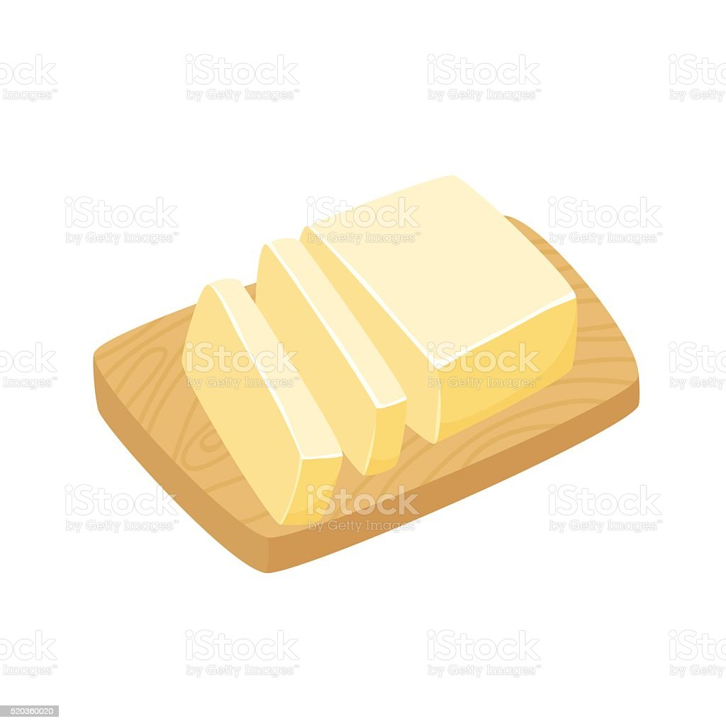 Sliced Margarine block vector art illustration