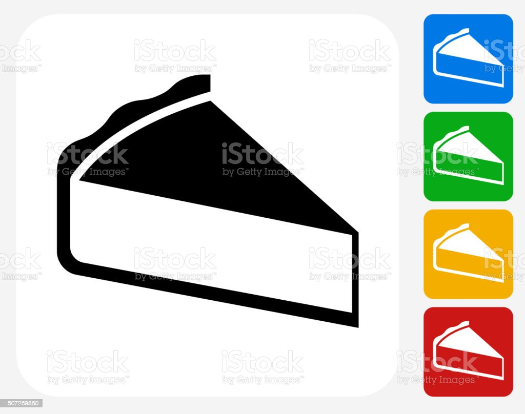 Sliced Pie Icon Flat Graphic Design vector art illustration