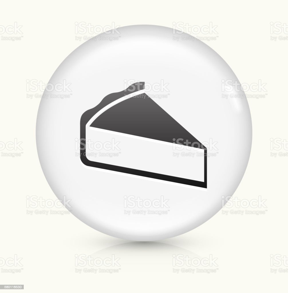 Sliced Pie icon on white round vector button vector art illustration