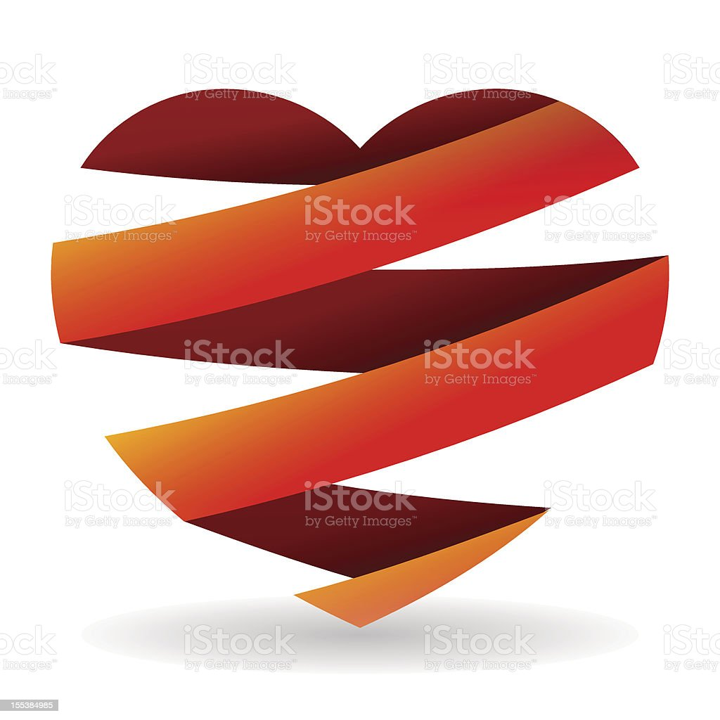 Sliced Red Heart royalty-free stock vector art