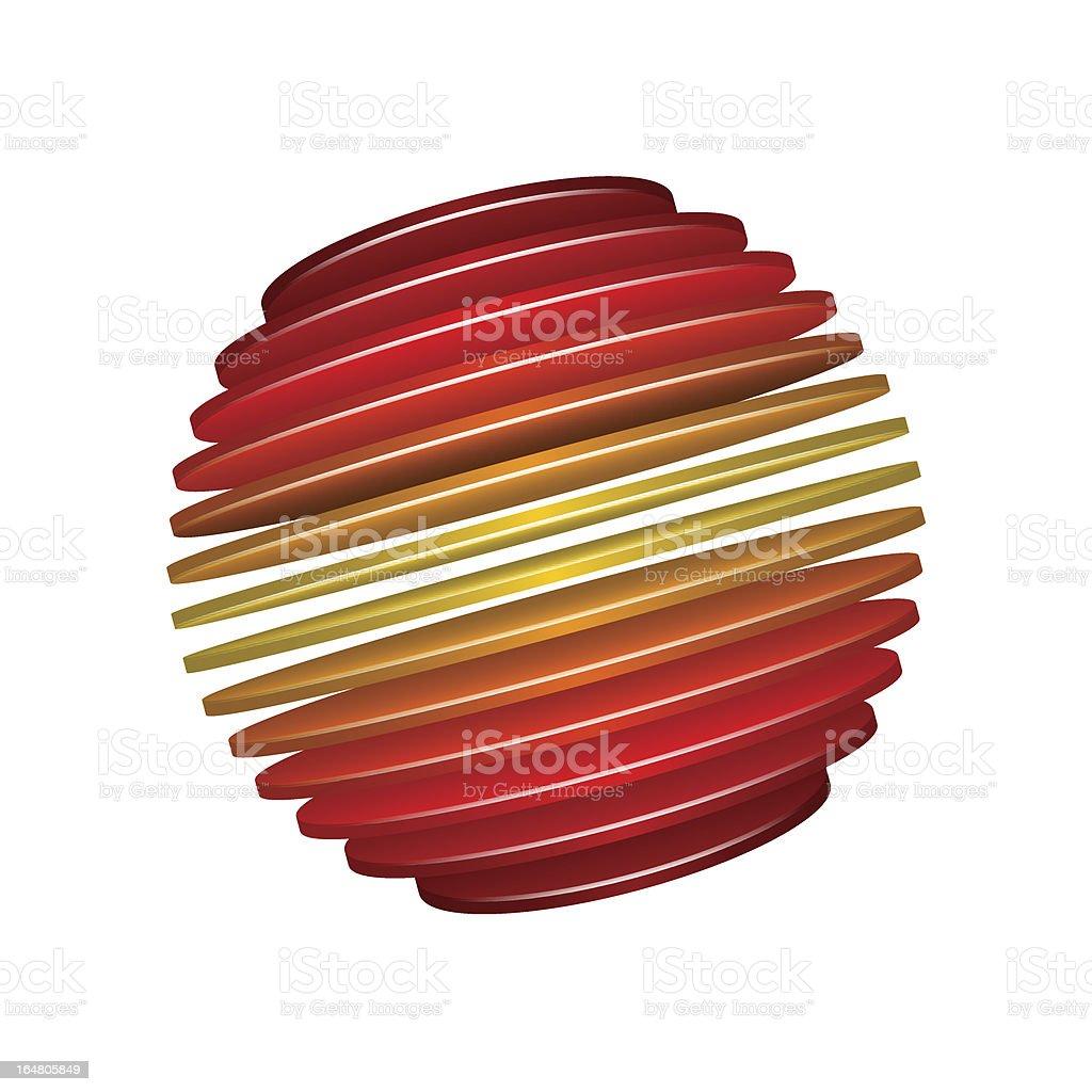 Sliced Sphere royalty-free stock vector art