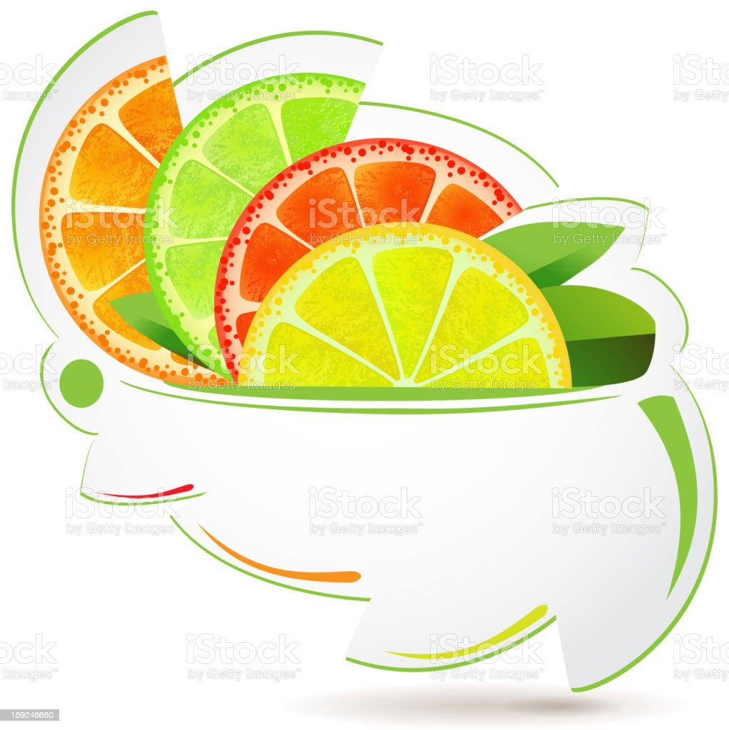 Slices of fruits royalty-free stock vector art