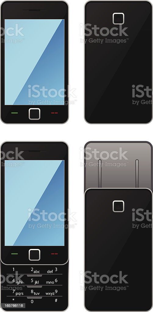 Slide Cell Phone with Camera royalty-free stock vector art