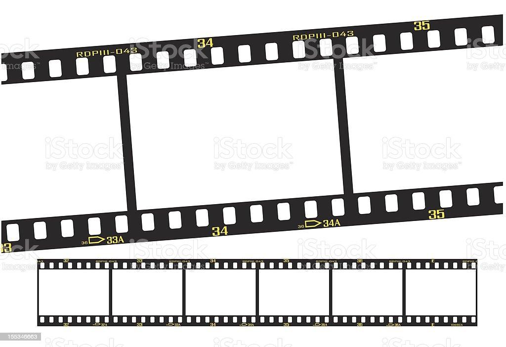 slide or transparency filmstrip vector art illustration